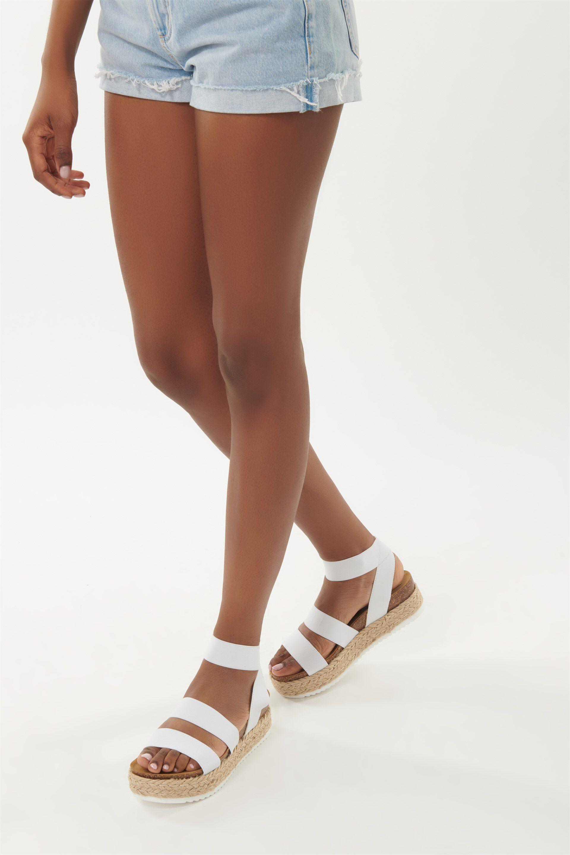 kimmie white sandals