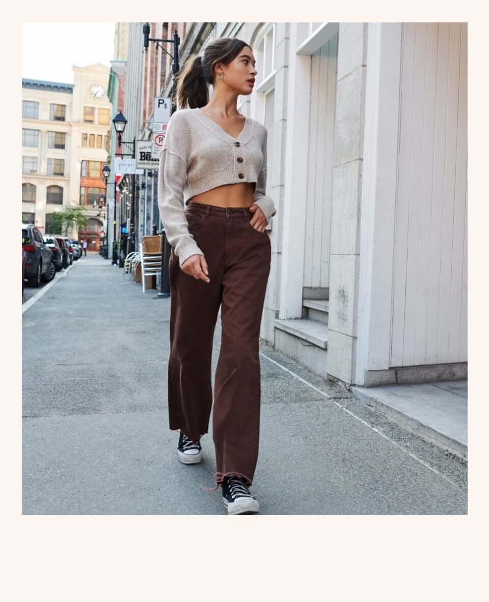 Model wearing Garage pants.