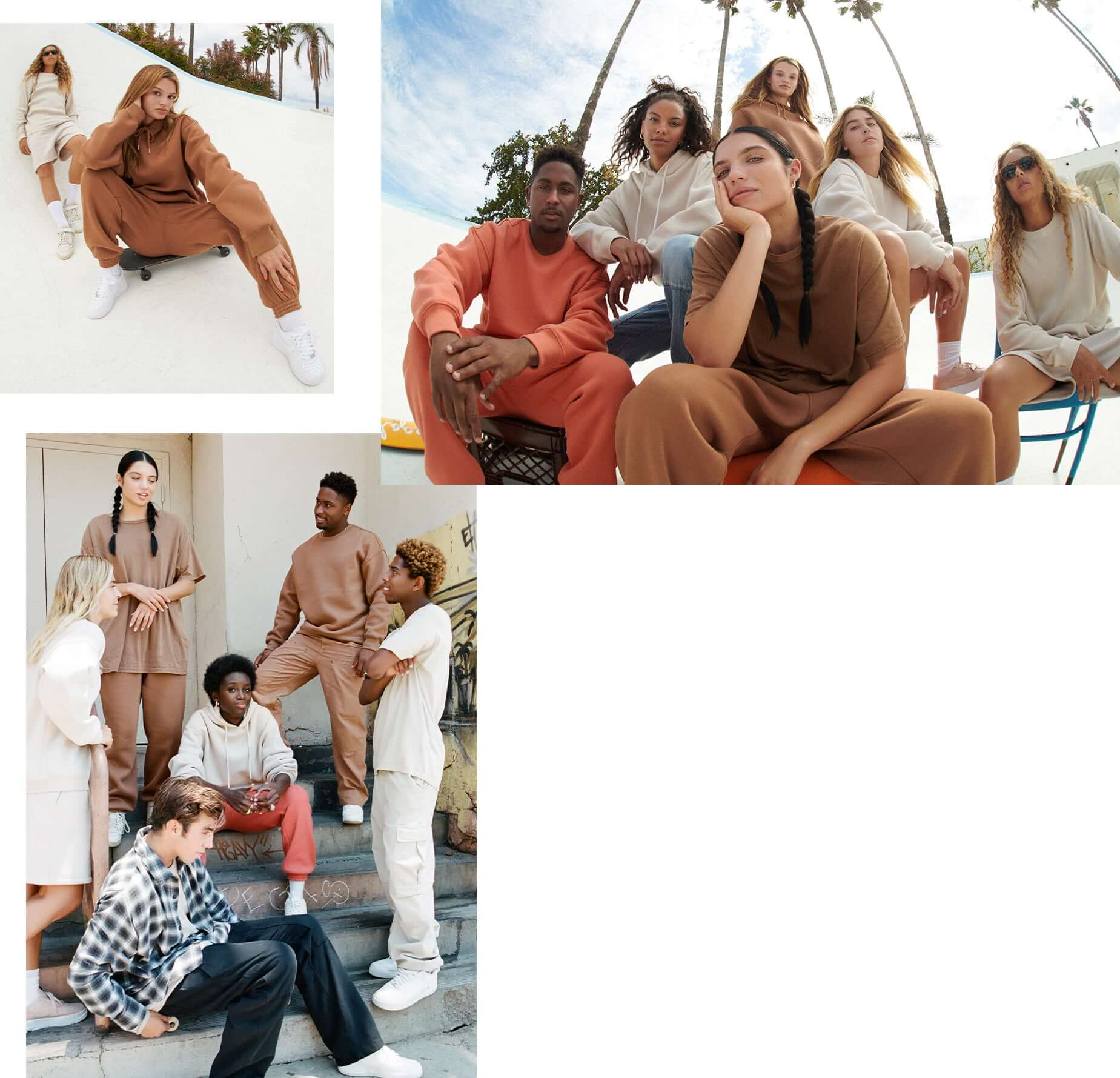 The whole cast of the Garage For All campaign is seen in the new unisex and fall collections.