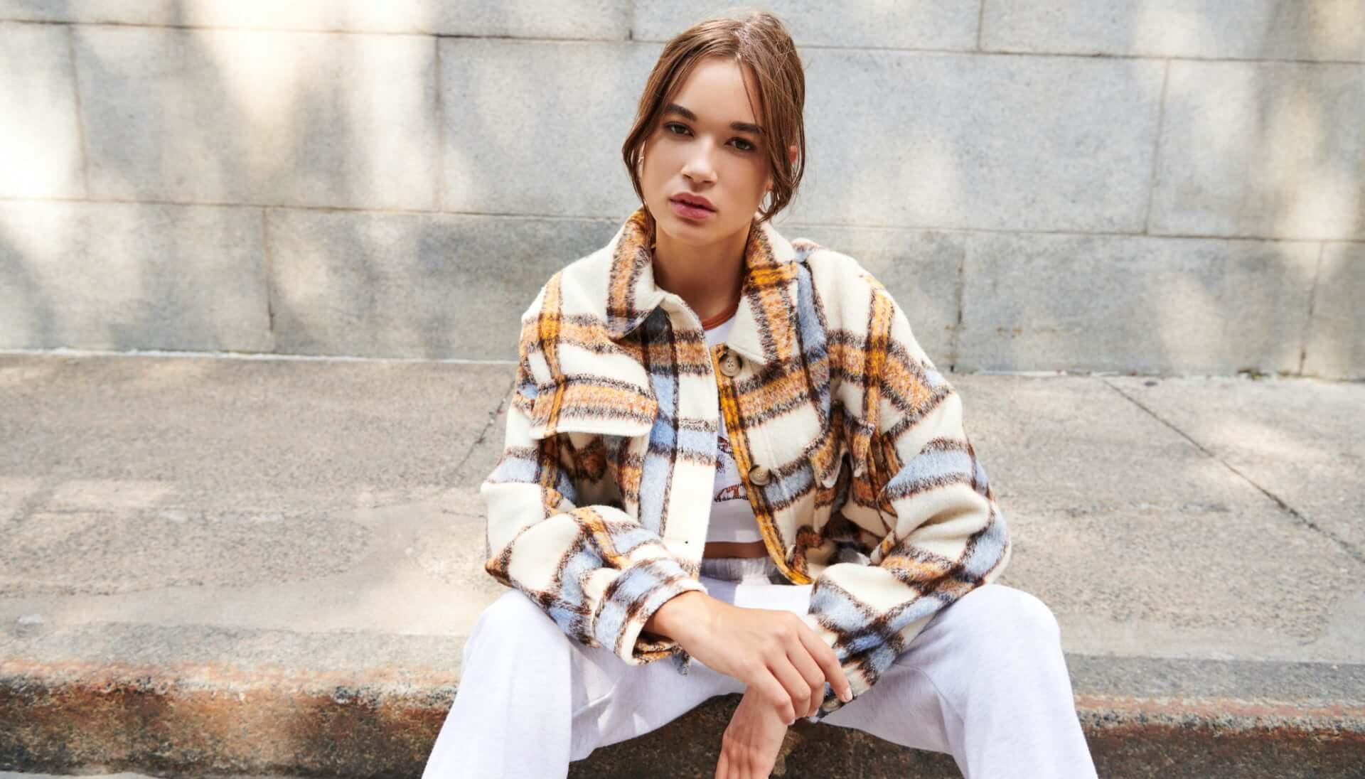 Model wearing Garage jacket.